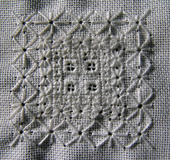 TAST week 6- eyelet stitch/ algierian eye