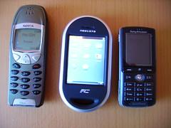 Nokia 6210, Neo1973, SonyEricsson k750i