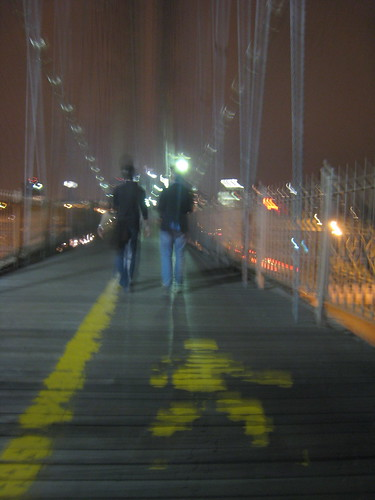 Adam and Tyler on the Brooklyn Bridge (2007)