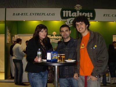 Alex, Carmen y yo en el certamen de las tapas