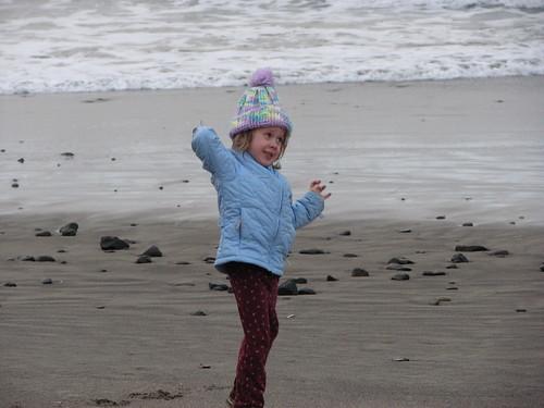Emmy on Neskowin Beach