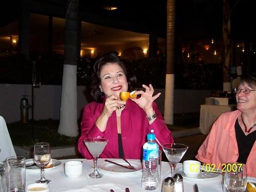 Raquel displaying fruit