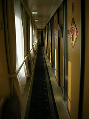 soft sleeper car hallway