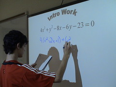 Writing on a Smart Board by Mr J. Jay, on Flickr