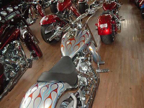 Silver Harley-Davidson