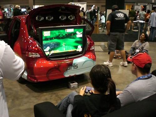 Gamecube in the trunk