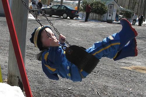Colin swinging