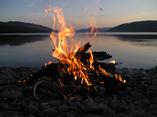 Loch Ness through fire by Citril.