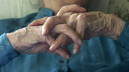 image of old woman's hands courtesy flickr.com