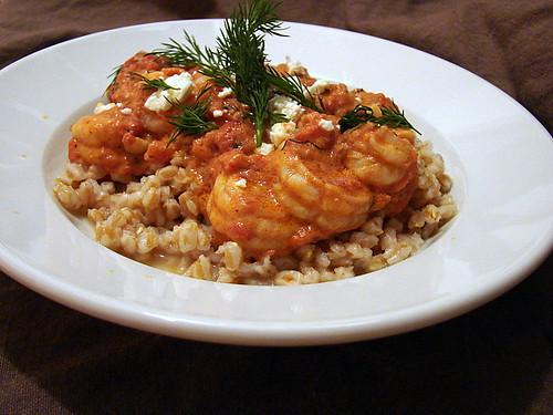 shrimp tomatoes feta