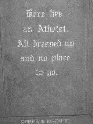 Atheist Headstone by GINDERBELL.