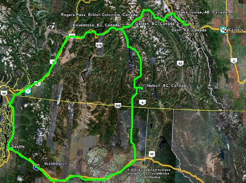 BC Map with route