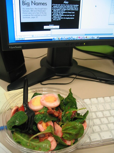 Il Fornio salad at work