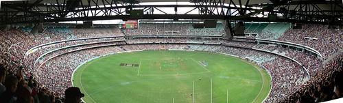 MCG Panorama. Bombers v Hawks.