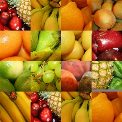 set of fruit images