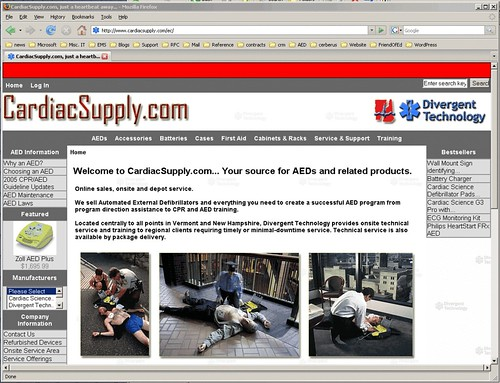 CardiacSupply.com Front Page, March 1, 2007