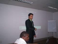 Ramon Thomas teaching Internet Cafe workshops in Johannesburg
