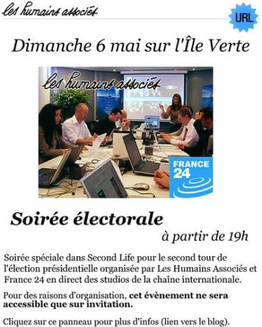 Soirée électorale du 6 mai sur l'Ile Verte (Les Humains Associés avec France 24)