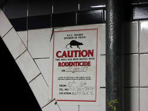 rodenticide sign fulton station