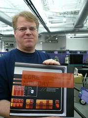 Scoble holding Core Memory book