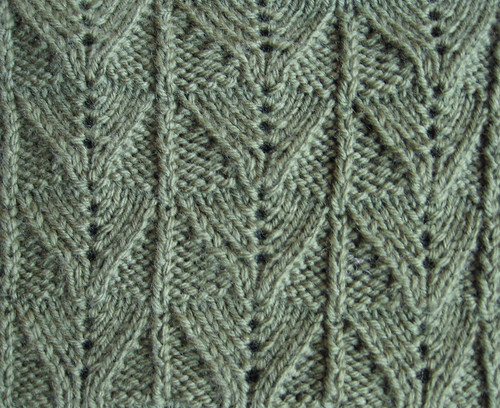 Reverse Fern Stitch, panel version