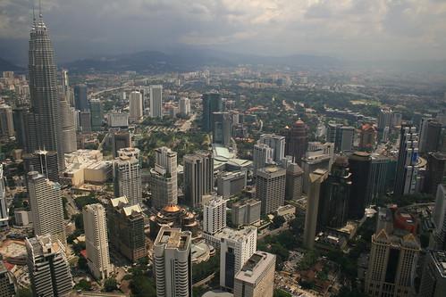 Vista desde la torre Menara KL