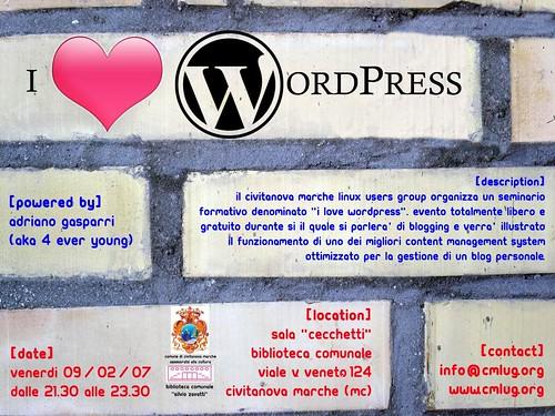Volantino ILoveWordPress
