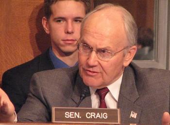 Senator Larry Craig of Idaho