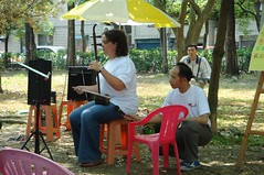 Me playing my erhu at the park