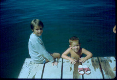 Me and my brother - a Swimming day, not a fishing day