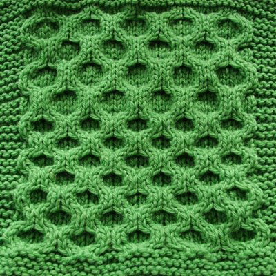 Aran Honeycomb Swatch- Regular and Elongated