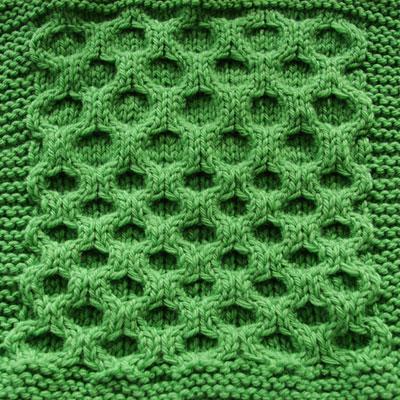 Aran Honeycomb Swatch- Regular and Elongated