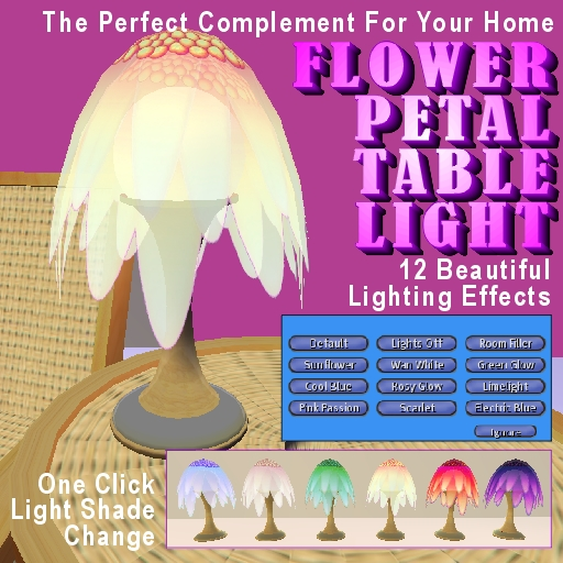Flower Petal Table Light