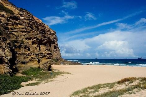Redhead Beach 11/2/07 Cliff