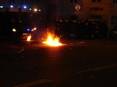 Molotov and police