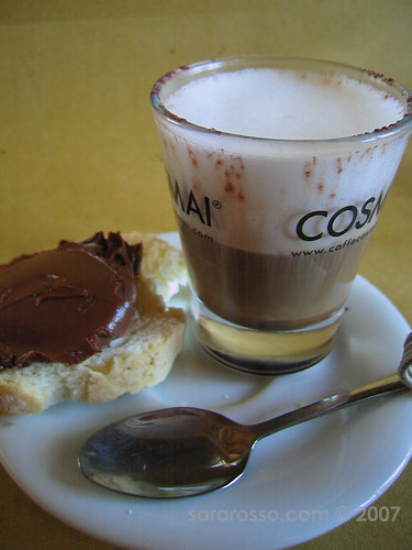Nutella and a Marocchino, a Perfect Pairing