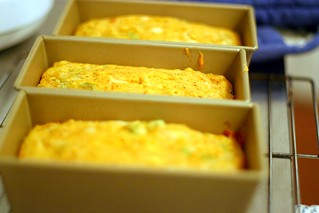 cheddar, chili and green onion corn bread