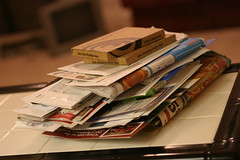 The heaping pile o mail again by Charles Williams on Flickr
