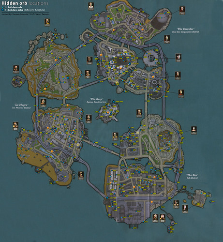Hidden Orbs Map - Crackdown