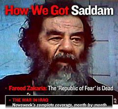 2003年12月13日被捕時的海珊/Saddam Hussein when he was captured on Dec. 13, 2003