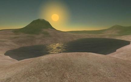 L'Ile Verte des Humains Associés encore vierge dans Second Life