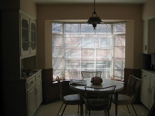 Nook with aluminum bay window