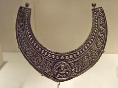 Collar necklace with figure of shiva-Bhairava nepal 1676 CE Silver by mharrsch