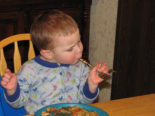 Jacob Eating Dinner