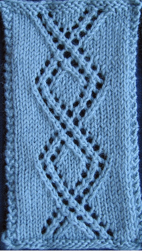 left cable-twist lace