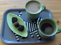 Kaffe med praliner