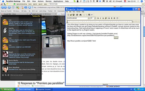 Using Dragon in Parallels (Coherence mode)
