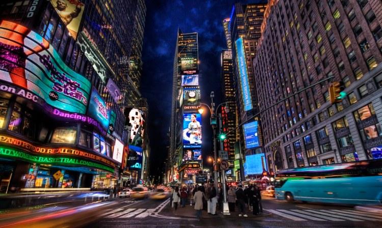 Times Square al crepuscolo