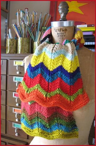zig zag scarf, finished!