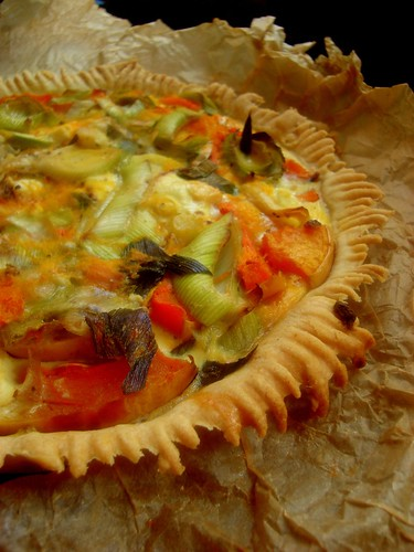 Butternut Squash and Leek Quiche